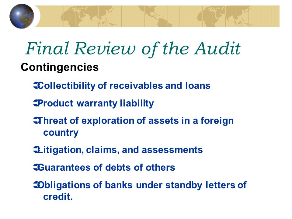 Final Review of the Audit