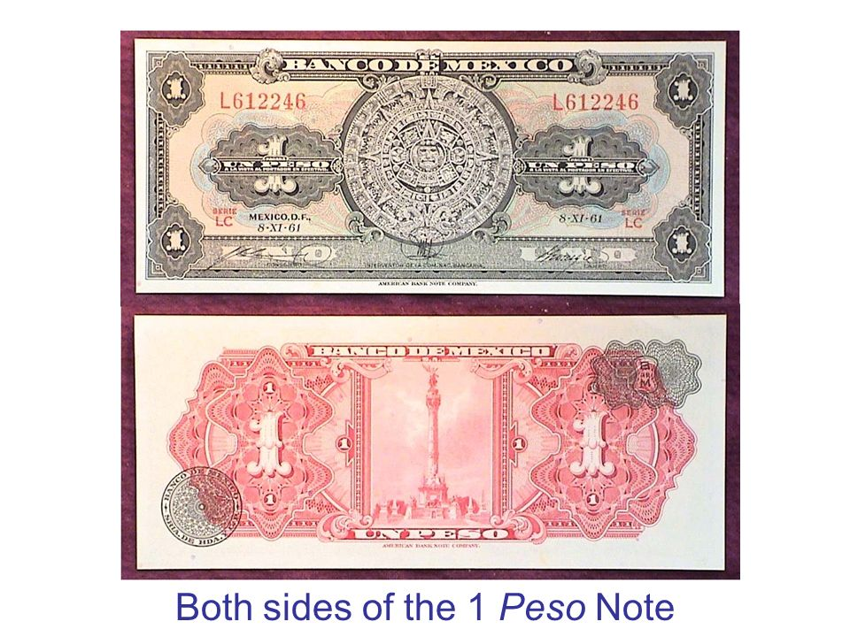 Both sides of the 1 Peso Note