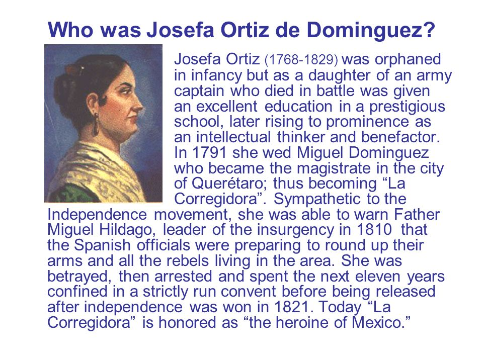 Who was Josefa Ortiz de Dominguez