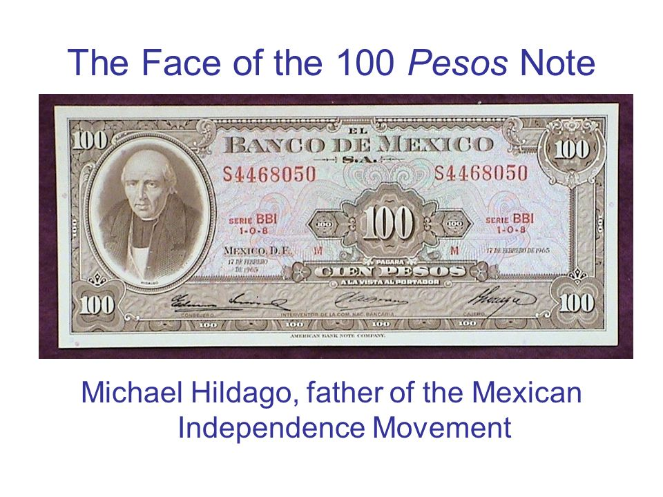 The Face of the 100 Pesos Note