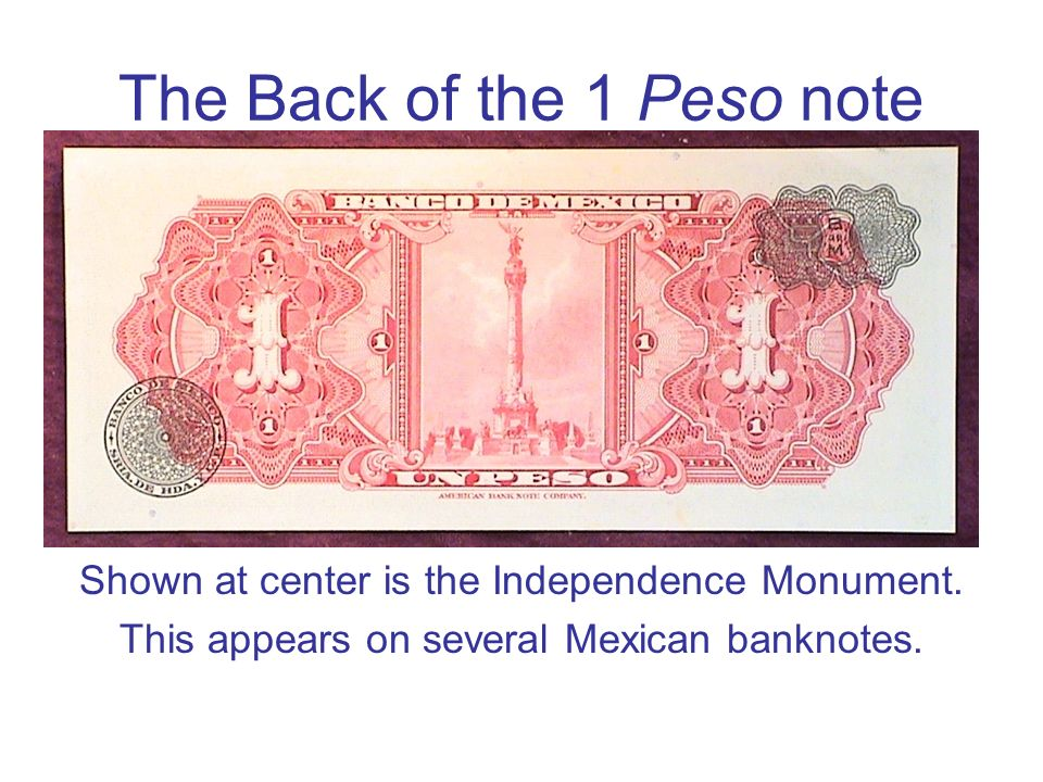 The Back of the 1 Peso note