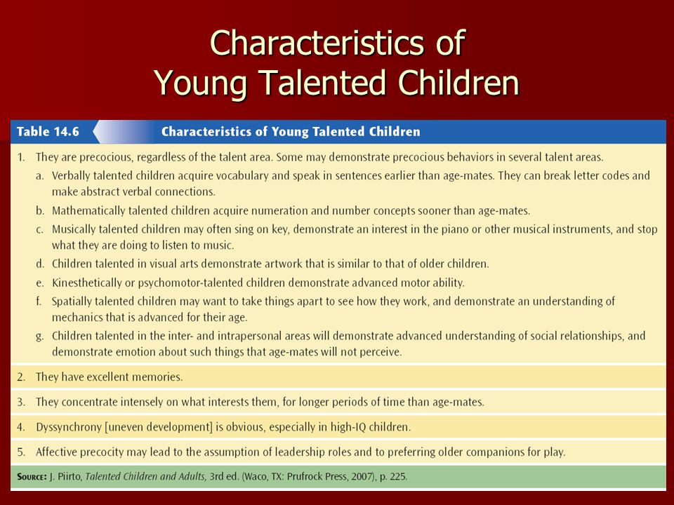 5 Characteristics of a Gifted Child