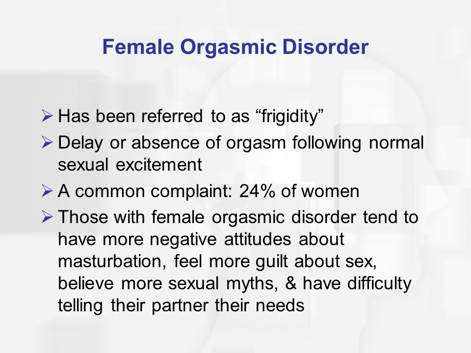 Female Orgasmic Disorder