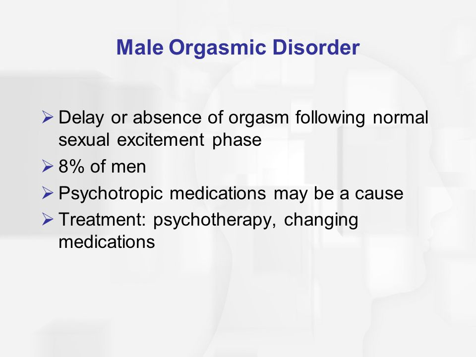 Male Orgasmic Disorder