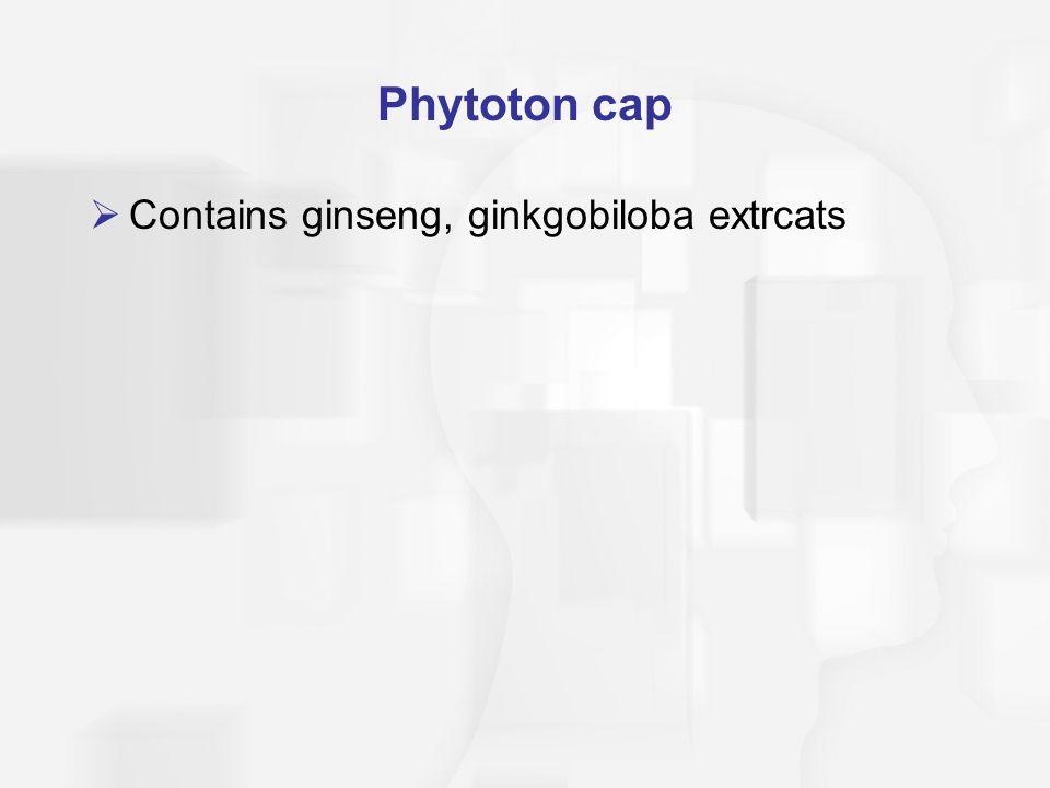Phytoton cap Contains ginseng, ginkgobiloba extrcats