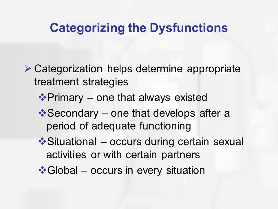 Categorizing the Dysfunctions