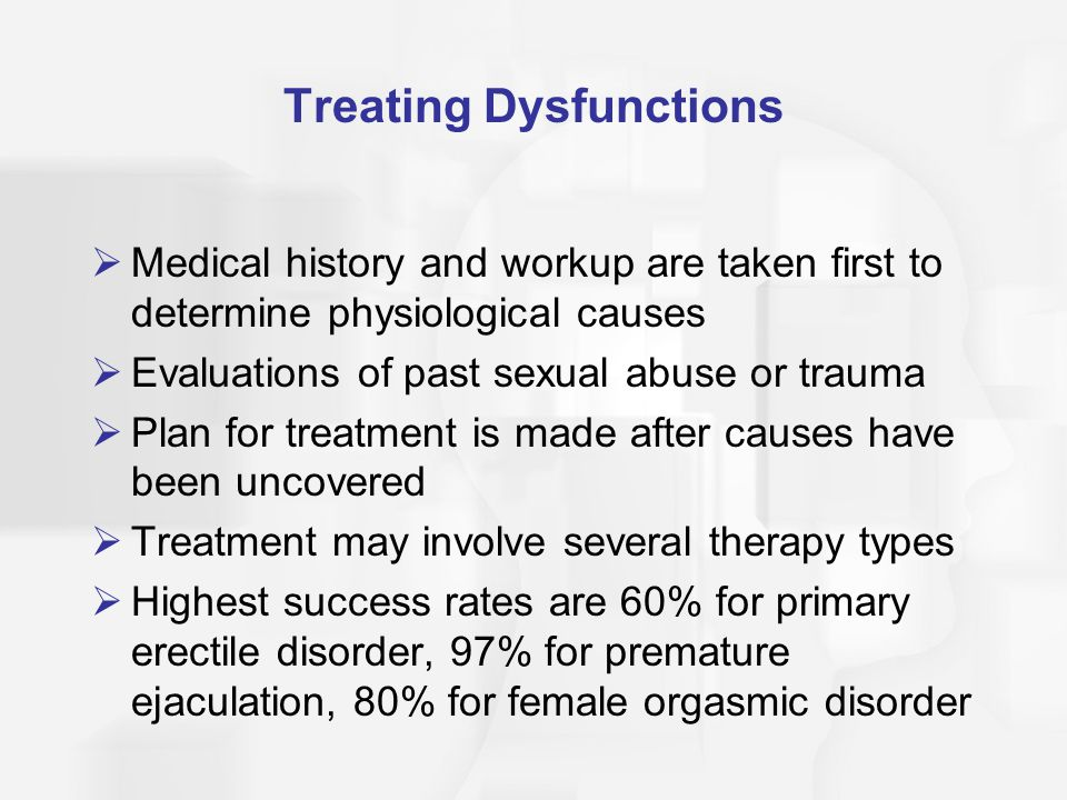 Not know. treatment plans for sexual diversion disorder