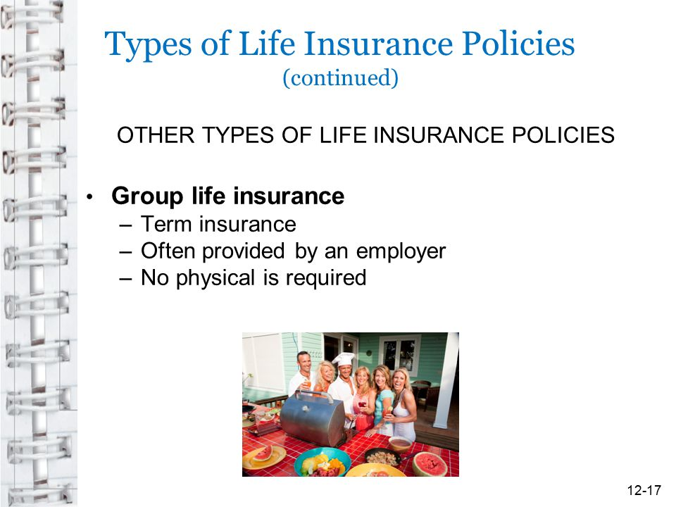 Types of Life Insurance Policies (continued)