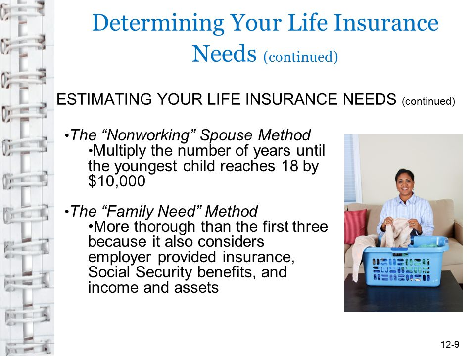 Determining Your Life Insurance Needs (continued)