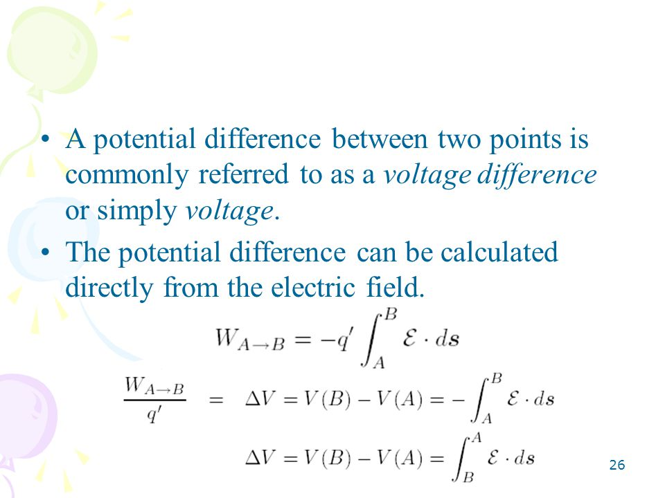 A potential difference between two points is commonly referred to as a voltage difference or simply voltage.