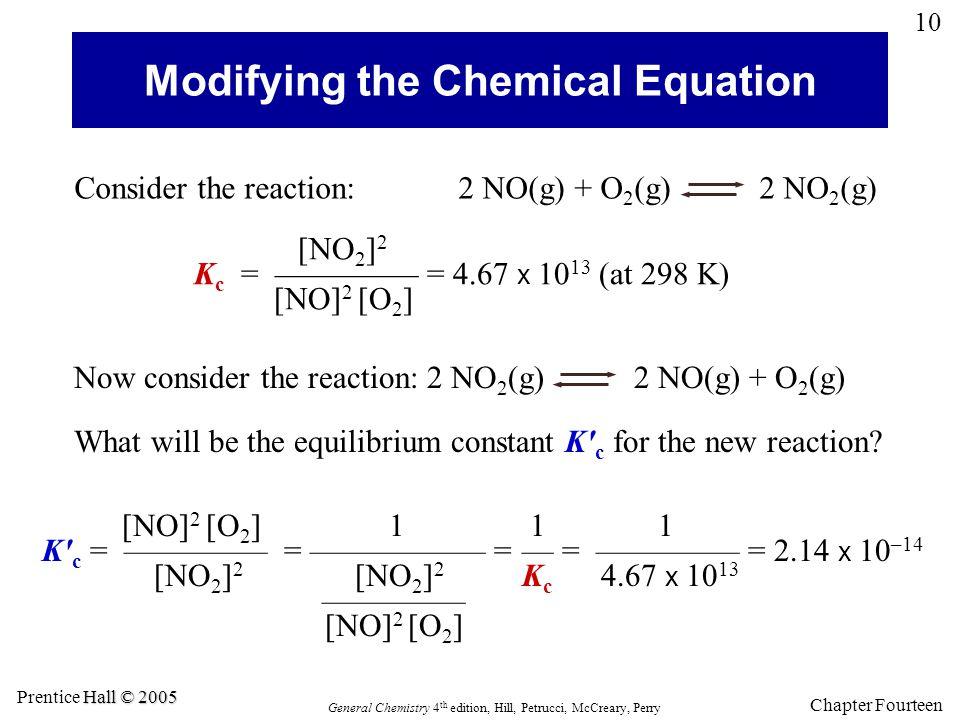 Modifying the Chemical Equation
