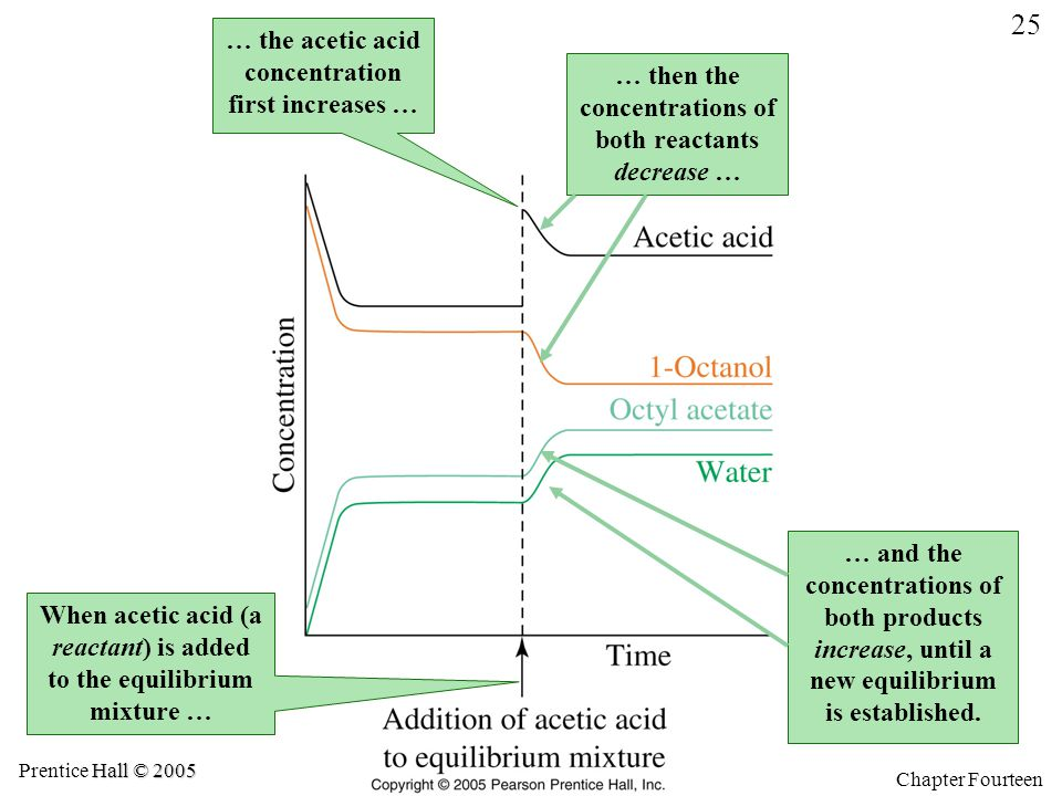 … the acetic acid concentration first increases …