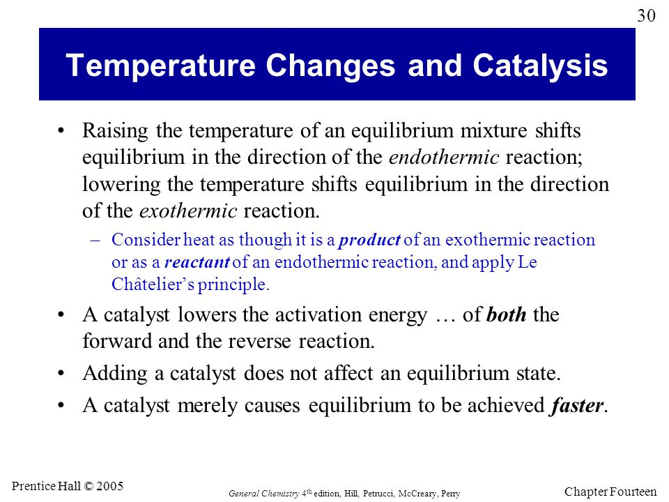 Temperature Changes and Catalysis