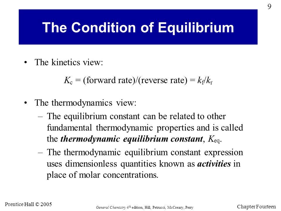 The Condition of Equilibrium