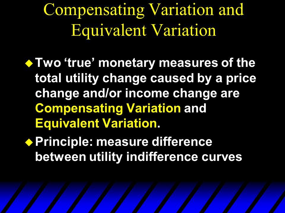 Compensating Variation and Equivalent Variation