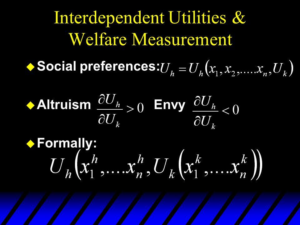 Interdependent Utilities & Welfare Measurement