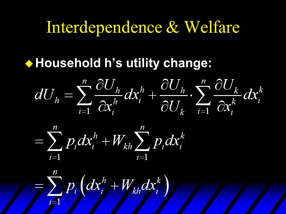 Interdependence & Welfare