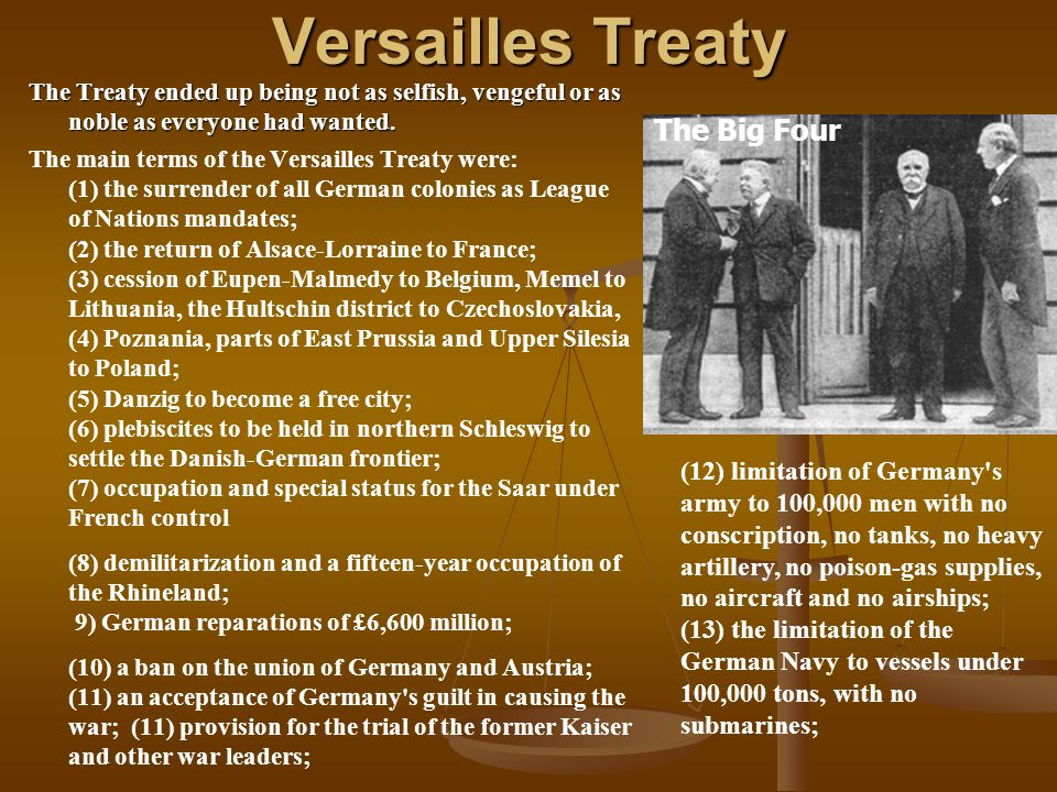 Versailles Treaty The Big Four
