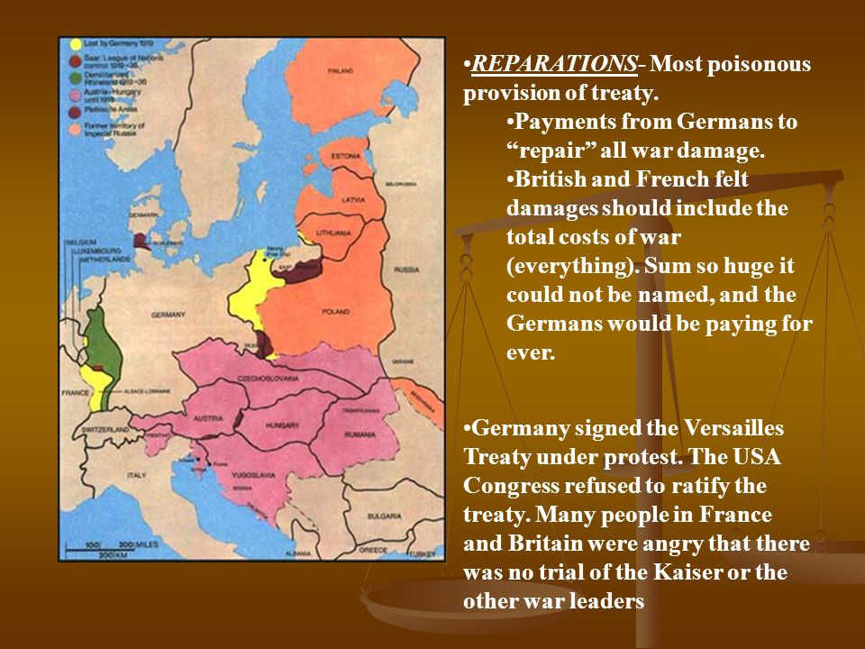 REPARATIONS- Most poisonous provision of treaty.
