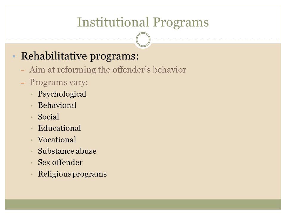 Institutional Programs