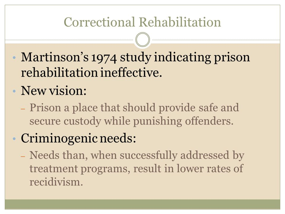 Correctional Rehabilitation