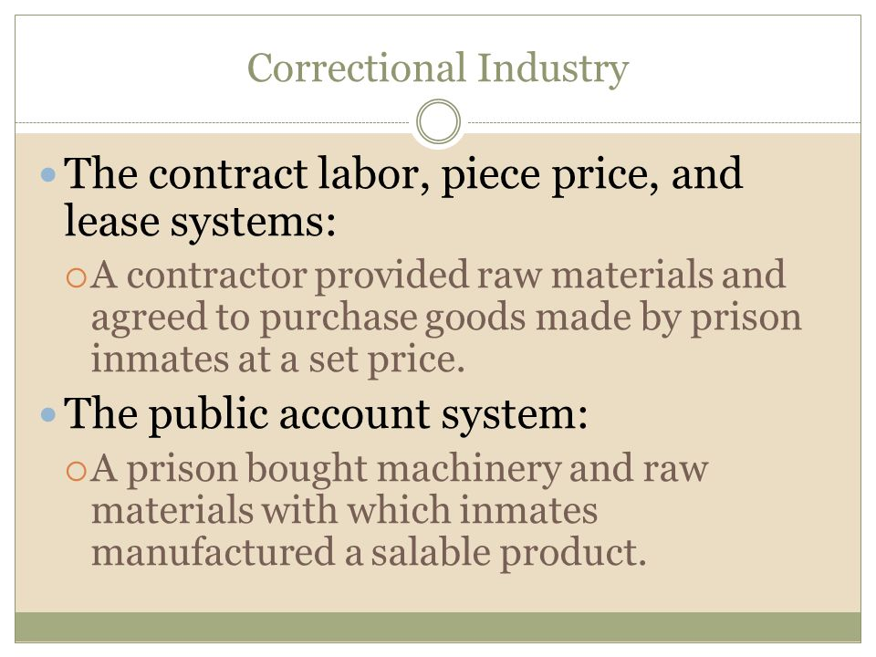 Correctional Industry