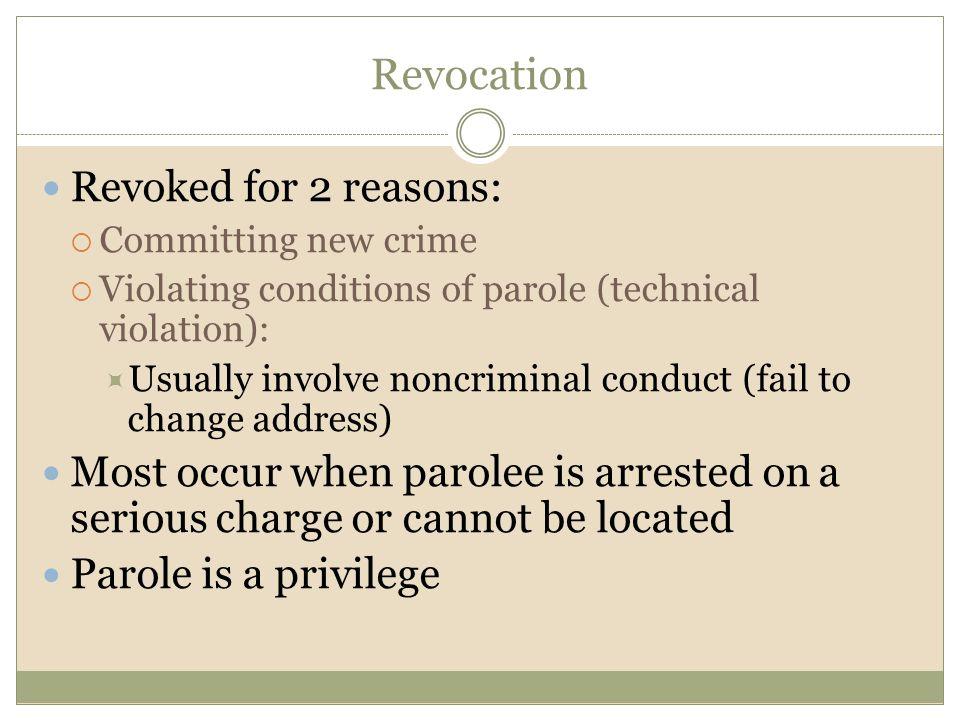 Revocation Revoked for 2 reasons: