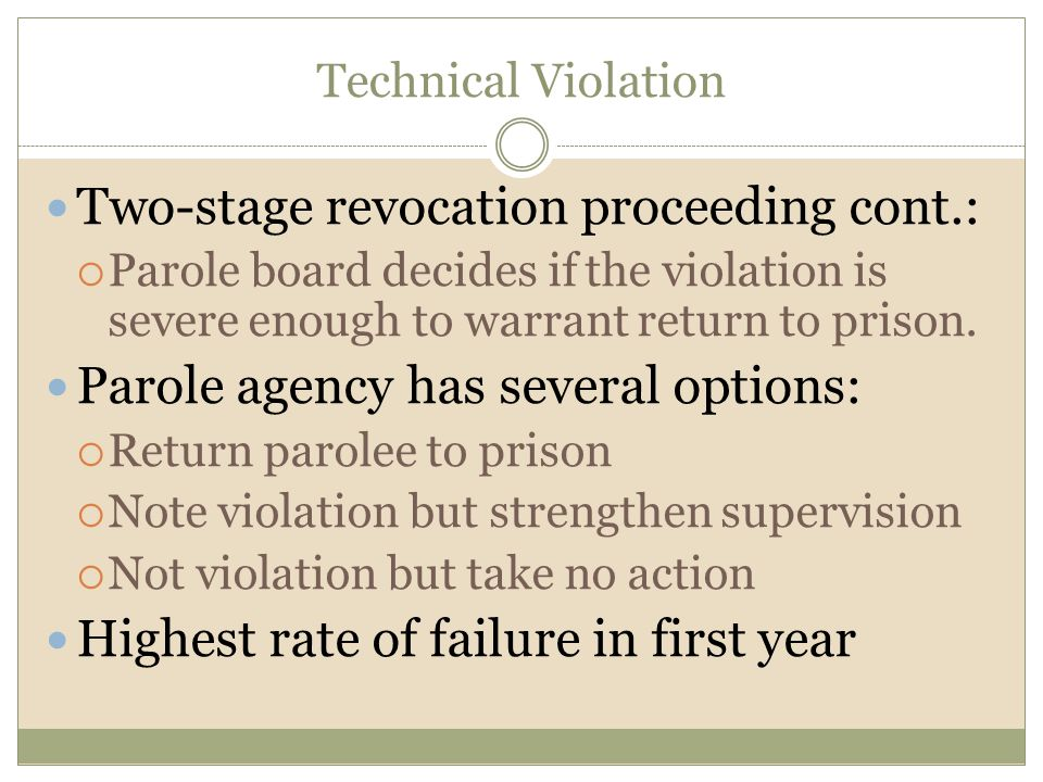 Two-stage revocation proceeding cont.: