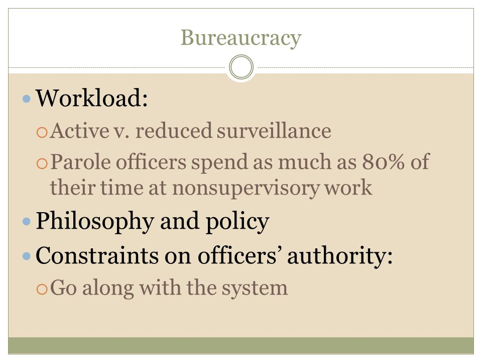 Constraints on officers' authority:
