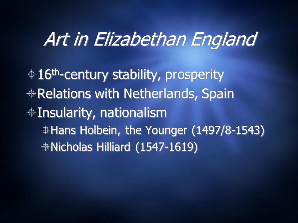Art in Elizabethan England