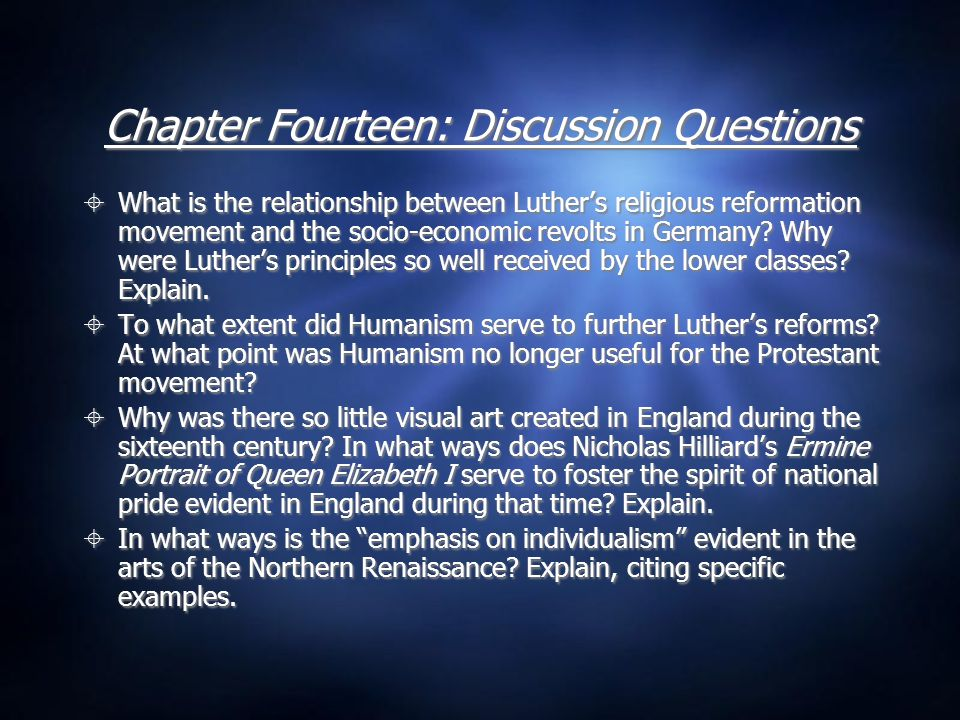 Chapter Fourteen: Discussion Questions