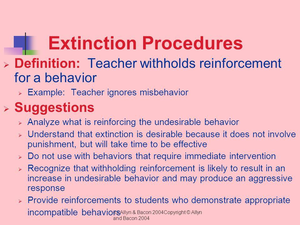 Extinction Procedures