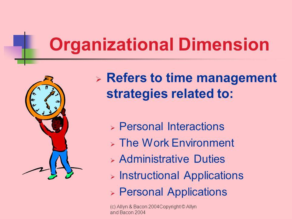 Organizational Dimension