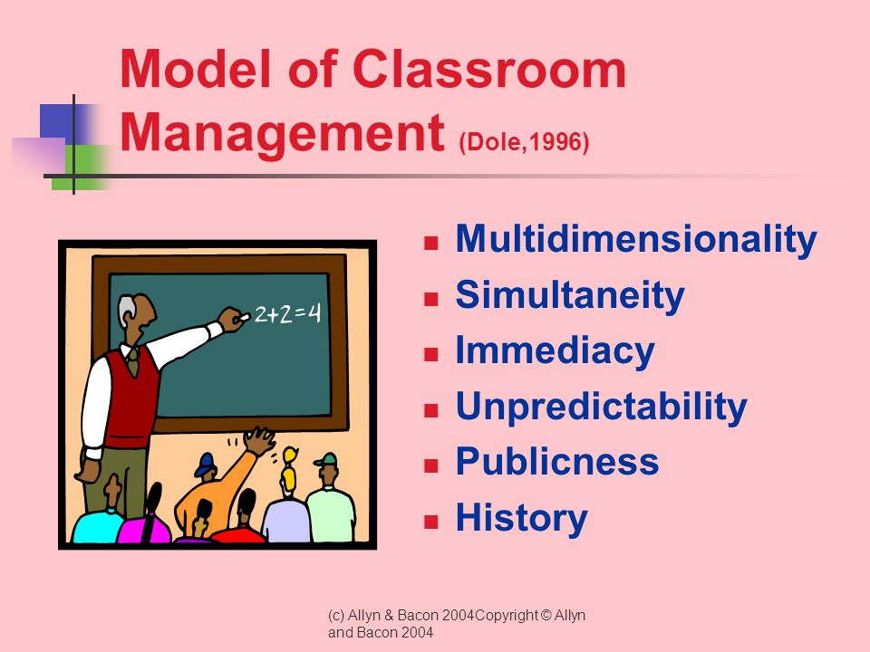 Model of Classroom Management (Dole,1996)