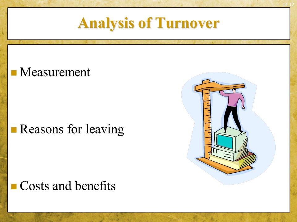 Analysis of Turnover Measurement Reasons for leaving