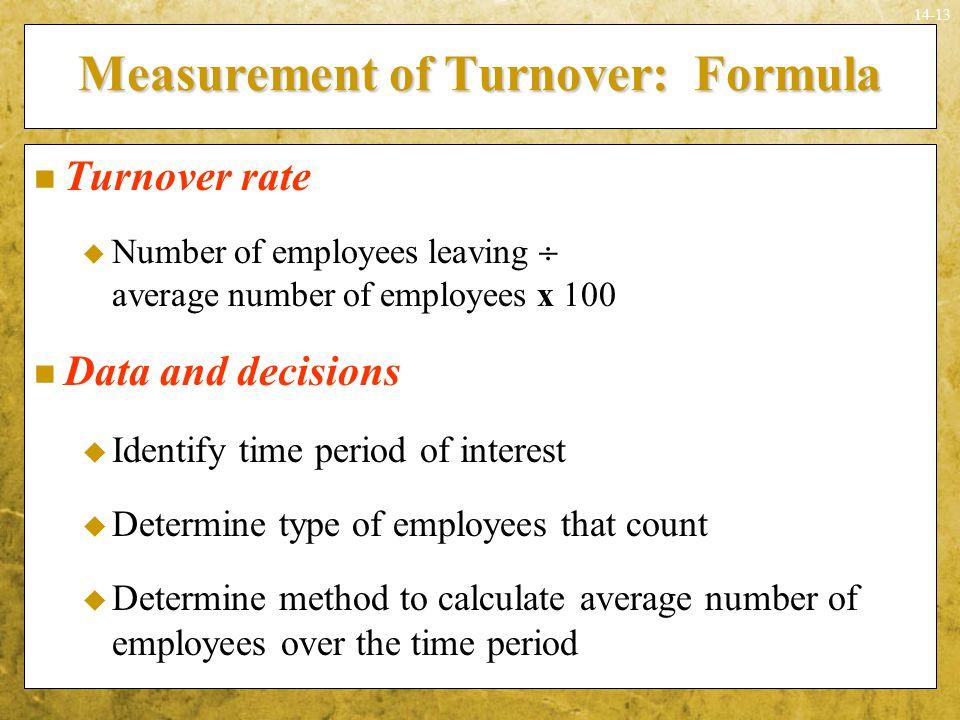 Measurement of Turnover: Formula