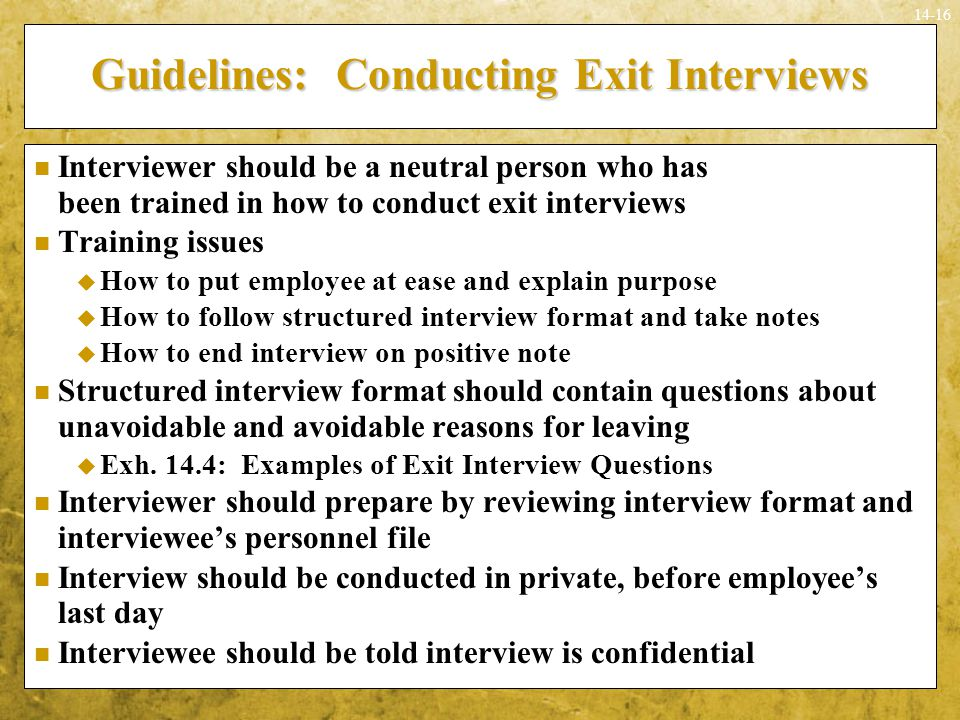 Guidelines: Conducting Exit Interviews
