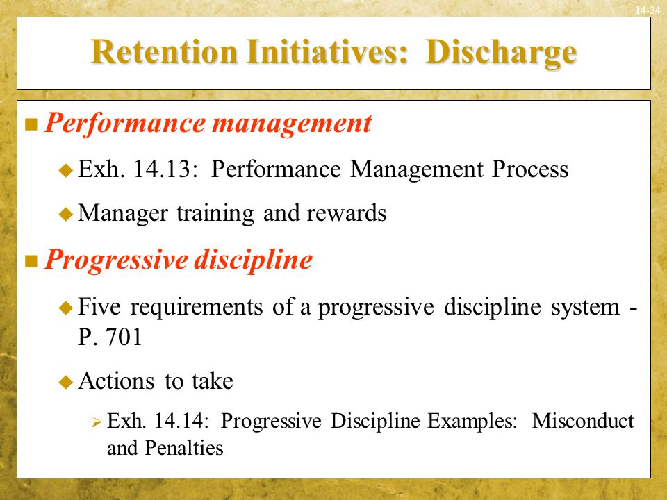 Retention Initiatives: Discharge