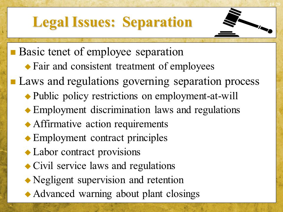 Legal Issues: Separation
