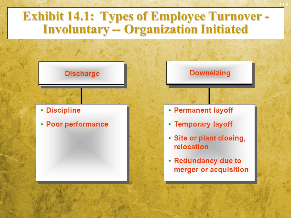 Exhibit 14.1: Types of Employee Turnover - Involuntary -- Organization Initiated