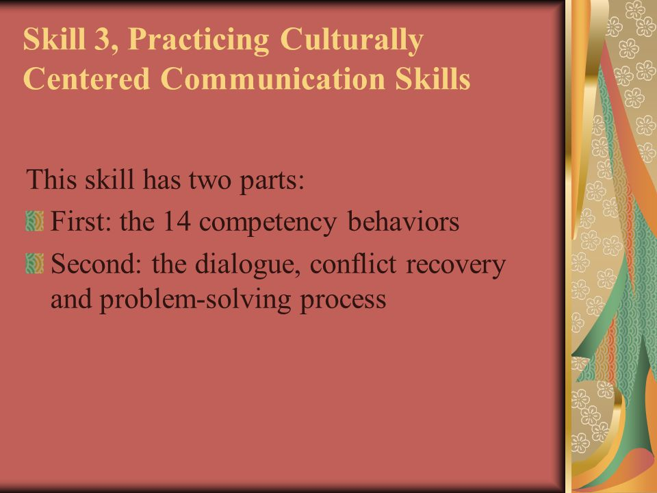 Skill 3, Practicing Culturally Centered Communication Skills