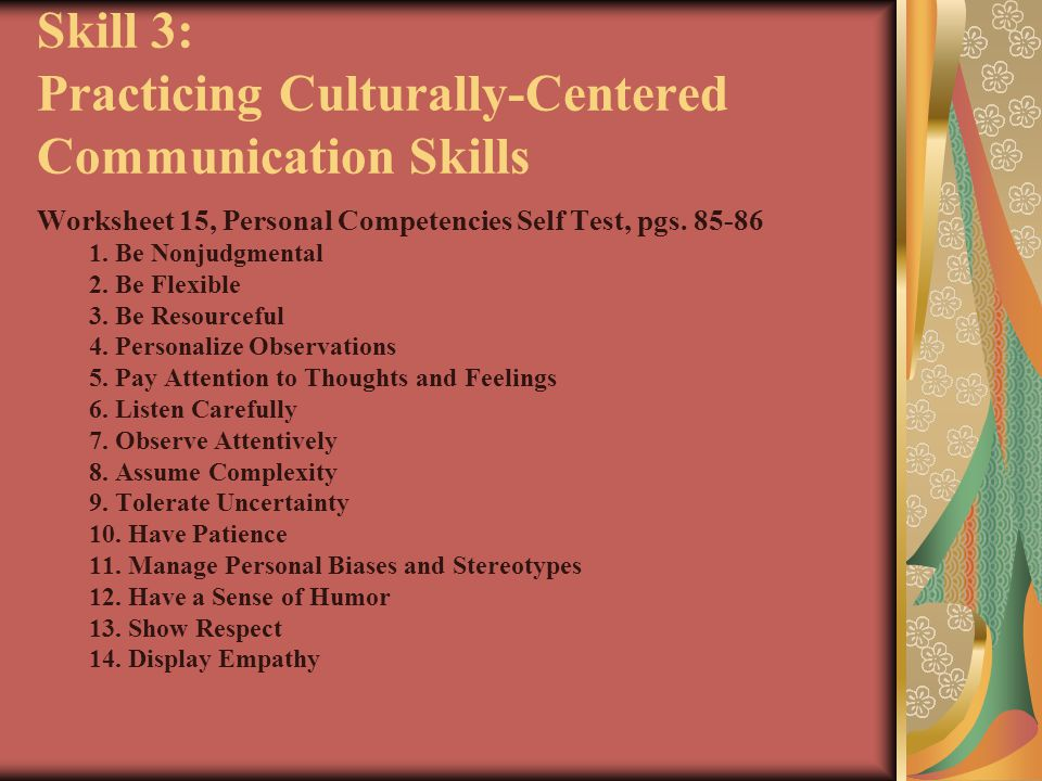 Skill 3: Practicing Culturally-Centered Communication Skills