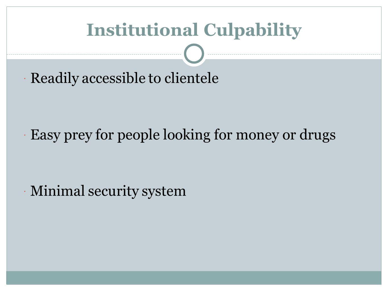 Institutional Culpability