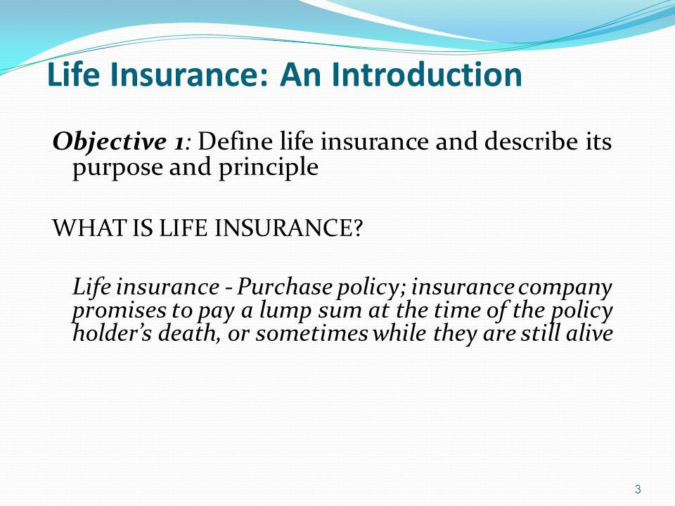 Life Insurance: An Introduction