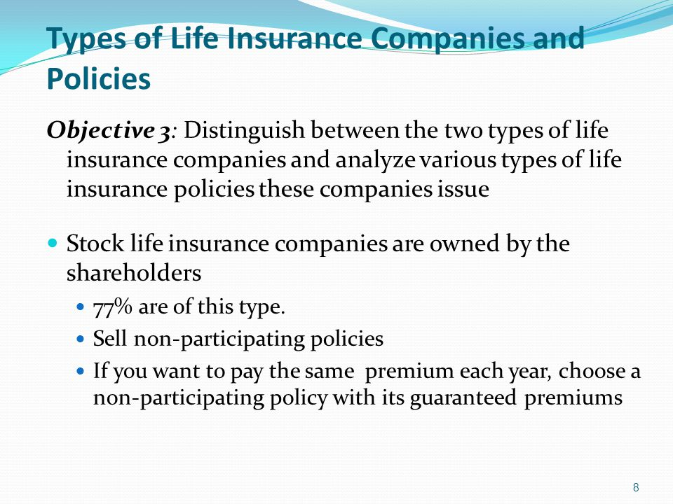 Types of Life Insurance Companies and Policies