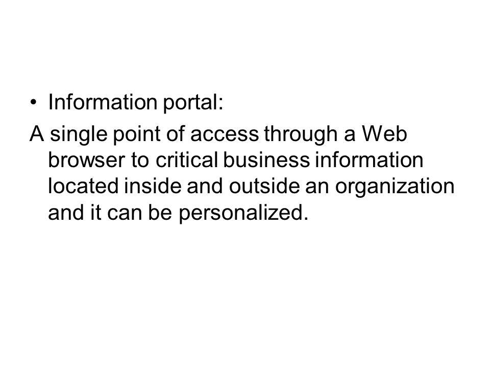 Information portal: