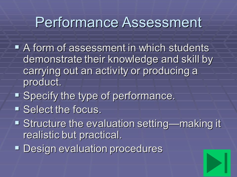Performance Assessment