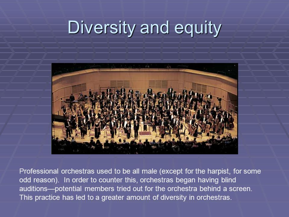 Diversity and equity