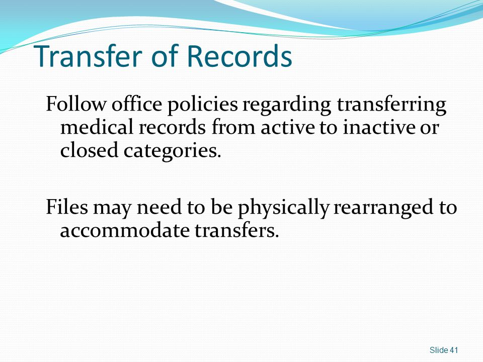 Transfer of Records