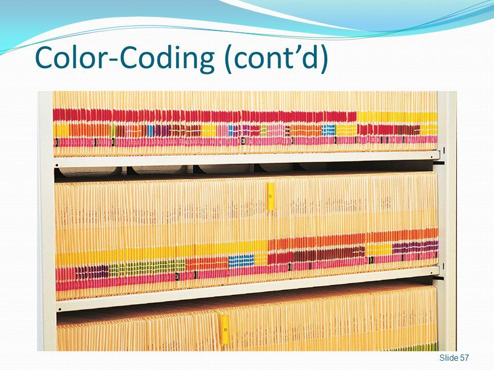 Color-Coding (cont'd)